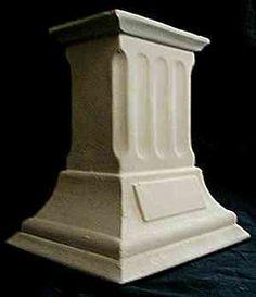 Fluted plinth pedestal.