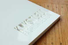 white acrylic portfolio book with cutout and engraving close-up | Flickr - Photo Sharing!