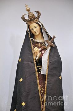 The Virgin Mary statue in church