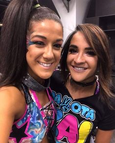 bayley and Dakota Kai Wrestling Divas, Women's Wrestling, Kacy Catanzaro, Pamela Rose Martinez, Wwe Backstage, Wwe Nxt Divas, Wwe Girls, Wwe Ladies, Wwe Female Wrestlers