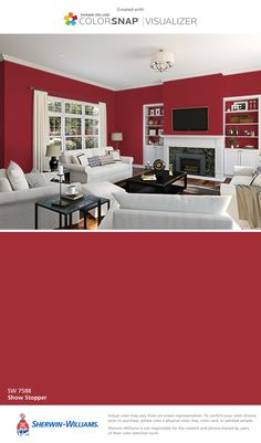 I found this color with ColorSnap® Visualizer for iPhone by Sherwin-Williams: Show Stopper (SW 7588).