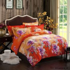 Yous Home Textiles!100%cotton King queen 4pcs comforter brushed bedding sets bedclothes/bed cover bed sheet pillowcase bedspread $126.00 - 128.00