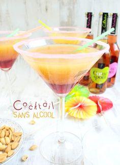 Cocktail sans alcool à étages {facile et rapide}