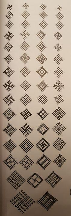 Slavic Tattoo, Norse Mythology Tattoo, Thai Tattoo, Maori Tattoos, Tribal Tattoos, Medieval Embroidery, Folk Embroidery, Embroidery Patterns, Alfabeto Viking