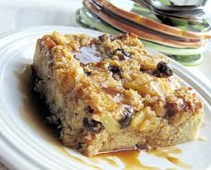 Gluten Free Bread Pudding with Apples and Bourbon Sauce Recipe