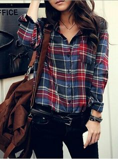 Flannel & Black Jeans .
