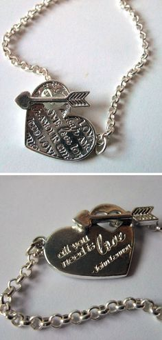 John Lennon Quote Charm Bracelet ~❥ All you Need is Love