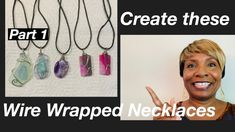 WireWrapping-part 1 #9 - YouTube Diy Jewelry Videos, Flat Nose, Work Gifts, Wire Wrapped Necklace, Wire Wrapping, Originals, Youtube, Art, Art Background