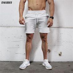 Able Brand Men Shorts Loose Fashion Short Trousers Casual Calf-length Jogger Mens Shorts Sweatpants Fitness Man Workout Cotton Shorts Rapid Heat Dissipation Board Shorts