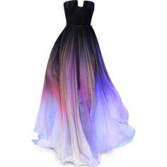 ELIE SAAB Chiffon Scarf Gown