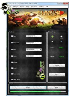 Download : http://besthacks4u.com/clash-of-clans-hack-cheat-android-ios/  Clash of Clans Hack Cheat Android iOS / Gems / Resources / Elixir / Points / Builders / Shield / Xp Level Up / Safe – Mode / Download Free Game . Clash of Clans Hack Cheat Work With Android And iOS. Clash of Clans Hack Cheat No ROOT or JAILBREAK needed.