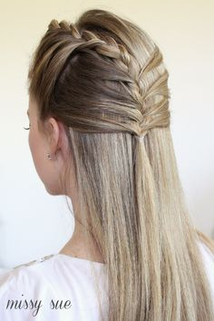 mermaid braids half updo Half Up Mermaid Braid
