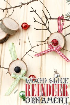 easy Wood Slice Reindeer Ornaments Please visit, Like & Shop our Facebook Page https://www.facebook.com/RusticFarmhouseDecor