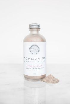 Communion Botanicals Fennel + Clay Facial Polish Fennel, Communion, Facial, Skincare, Polish, Clay, Desserts, Food, Dessert