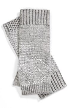 MICHAEL Michael Kors Metallic Knit Logo Arm Warmers available at #Nordstrom