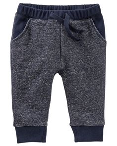 Perfect for baby boys on the go, these French terry pants are comfortable so he can crawl in style!