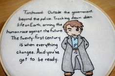 Torchwood embroidery!