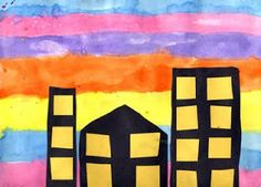 Art Projects for Kids: Sunset Cityscape