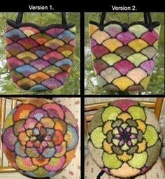 Felted Stained Glass Fan Bags