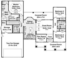 Plan No.217361 House Plans by WestHomePlanners.com