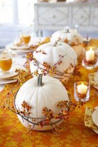 Sonbahar tatillerinin ve kutlamaların en güzen yanı sonbahar renkleriyle dekoratif sofralar.