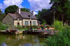 Renkli kasaba Malestrua (Malestroit) Brittany, Fransa. LiveInternet tartışması - Rus Service Çevrimiçi günlüğü