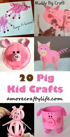 Pig Kid Crafts – Fun Animal Farm Theme - A Crafty LifeYou can find Farm theme and more on our website.Pig Kid Crafts – Fun Animal Farm Theme - A Crafty Life Farm Theme Crafts, Farm Animal Crafts, Pig Crafts, Animal Crafts For Kids, Daycare Crafts, Fun Crafts For Kids, Craft Activities For Kids, Toddler Crafts, Preschool Crafts
