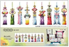 -1 Norigae, traditional ornaments worn over the skirt in women's hanbok.