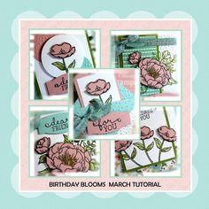 Hello Peeps !!!     Happy Sunday !!!     The Birthday Blooms stamp set definitely reminds me that spring is just   around the corner. I...