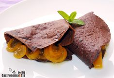Crepes de chocolate con harina de garbanzos