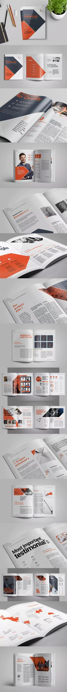 TM Company Profile Template InDesign INDD A4 Company Profile - profile company template