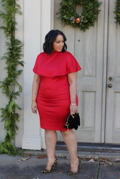 Merry & Bright… Red Beauty Curve Plus Size Fashion Blogger