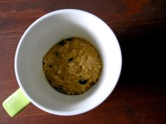Microwave Pumpkin Chocolate Chip Cake (in a mug)