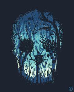 Creative Skull-Forest Illusion : pics  www.reddit.com