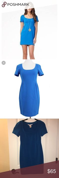 """DVF Blue """"Linnie"""" Dress, size 0 DVF Blue """"Linnie"""" Dress, size 0. Worn once and dry cleaned. Very stretchy. Pullover. Approx 33"""" in length. In perfect condition. Diane Von Furstenberg Dresses"""