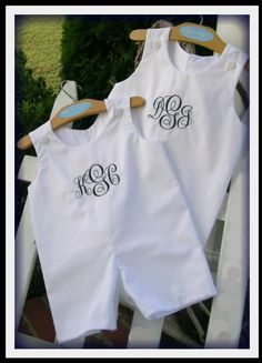 9e10a22488 Boys Monogrammed Pique Solid White Shortall Jon Jon by HeartTugzs Cute Baby  Boy Outfits, Little