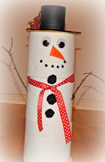 This Ole Mom: Toilet Paper Snowman Tutorial