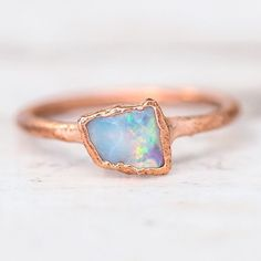 INDIE AND HARPER Raw Opal and Copper Ring