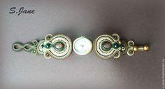 """Купить Часы-браслет """"Омут"""" - браслет, часы, сутаж, подарок, винтаж, сутажные украшения, часики"""