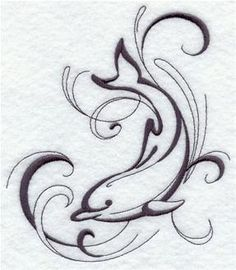 Machine Embroidery Designs at Embroidery Library! - Dolphins