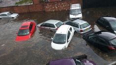 Nottinghamshire 2013 - Heavy rain causes flooding in parts of Nottinghamshire, closing roads and damaging homes.