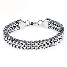 Man's Bicycle Bracelets Casual Stainless Steel Double Layer Motorcycle Width Long Sports Men Jewelry - Men's style, accessories, mens fashion trends 2020 Bracelets For Men, Fashion Bracelets, Bangle Bracelets, Fashion Jewelry, Bracelet Men, Bracelet Charms, Silver Bracelets, Trendy Jewelry, Jewelry Accessories