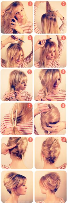 how to - french twist - So easy with the chop sticks!