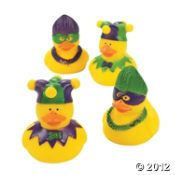 Mardi Gras Rubber Duckies..gift bag idea