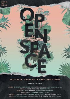 OPEN SPACE FESTIVAL / Graphic Design - poster &... - GRAPHIQUEMENT - PARLANT
