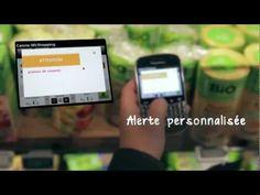 Met NFC informatie van het schap op de telefoonladen bij Casino.