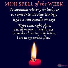 Heres your mini spell for this week! The time is Witchcraft Spells For Beginners, Healing Spells, Magick Spells, Candle Spells, Candle Magic, Gypsy Spells, Witch Spell Book, Witchcraft Spell Books, Good Luck Spells