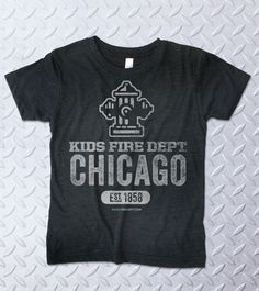 Our City Classic Shirt collection is all about fire department tradition. Many cities, one mission: Protect life and property. Firefighters around the world collect fire tee shirts. Be like a firefighter and start your collection today!  #firefighters #kidsfashion #chicago #chicagofire