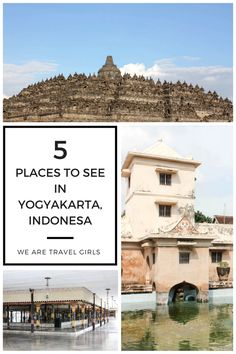 5 PLACES TO SEE IN YOGYAKARTA, INDONESIA If you love history, architecture, gorgeous temples, and notable monuments, Yogyakarta is the place to go. Here are 5 must-see sights in Yogyakarta!