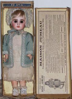 "14"" Tete Jumeau in Original Box - Antique Doll SOLD from Faraway Antique Shop. www.farawayantiqueshop.com"